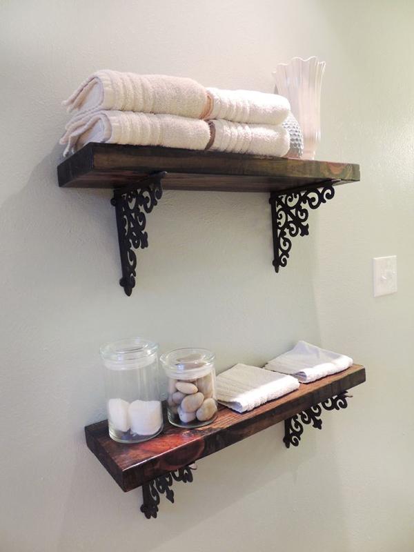 10 simplicity diy bathroom shelves home design and interior for Diy bathroom storage shelves