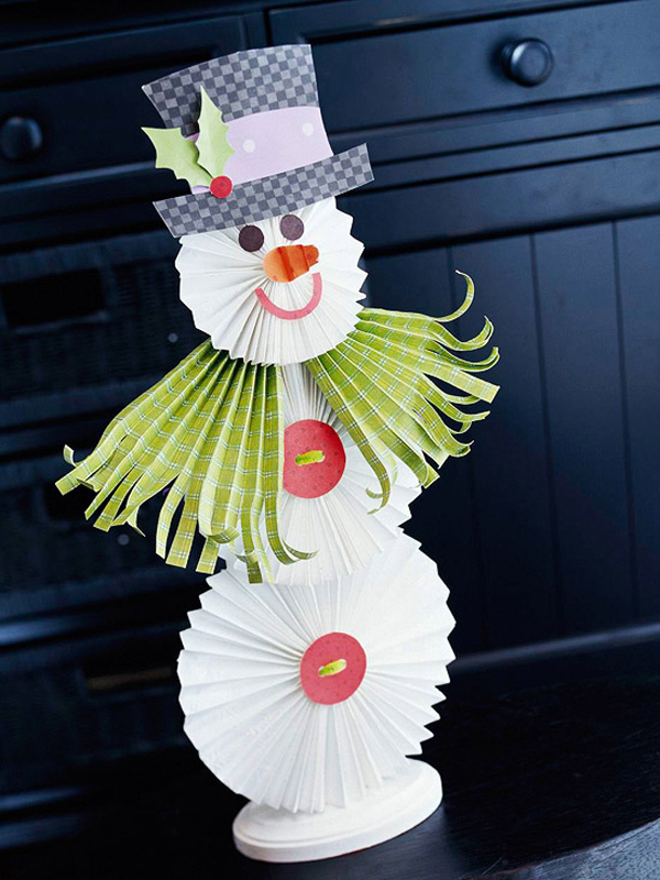 Christmas Snowman Craft Design