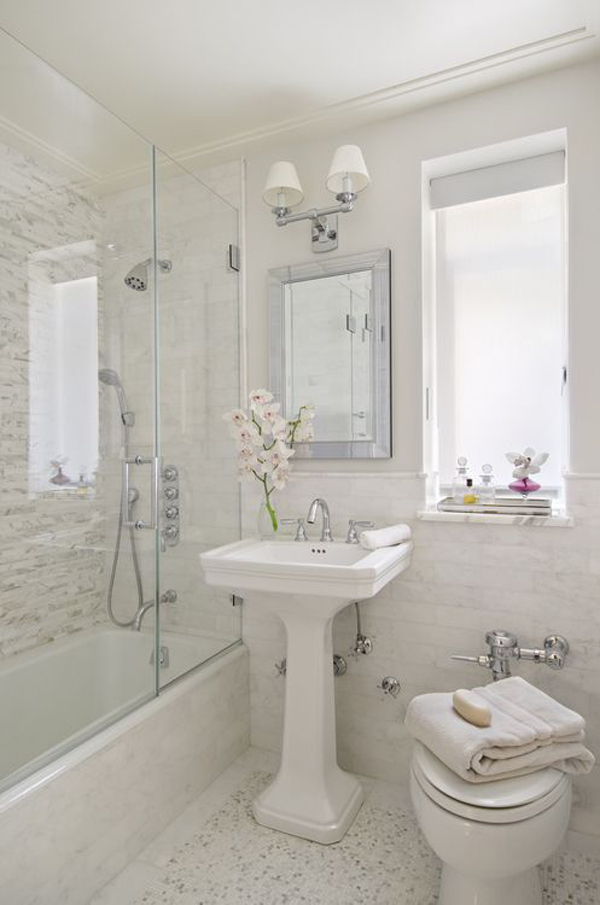 Luxury guest bathroom with small spaces for Small space bathroom designs