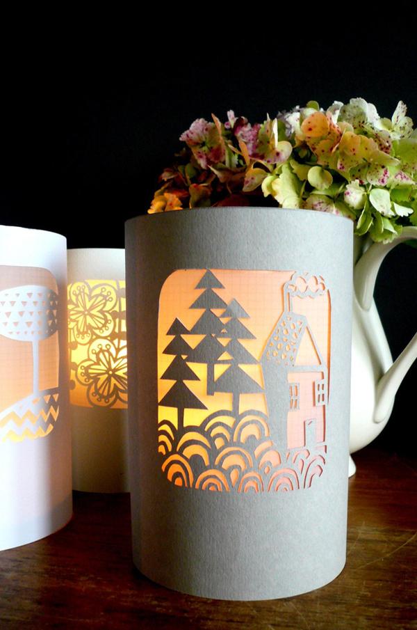 Paper Cut Christmas Lantern