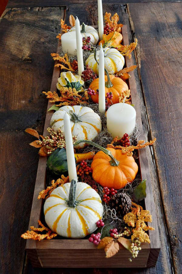 Traditional thanksgiving centerpieces and tablescapes