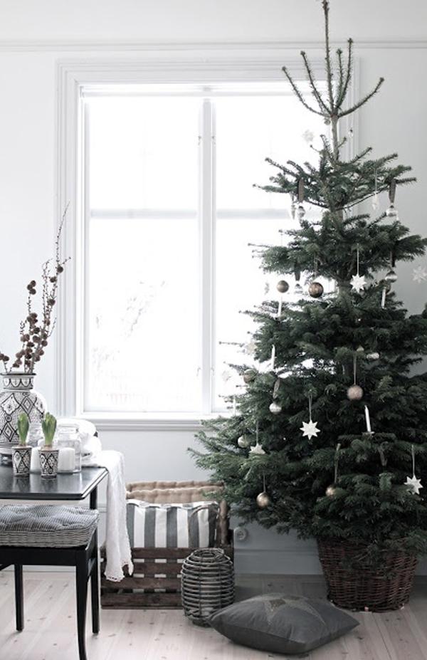 25 Simple And Minimalist Christmas Tree Decorations ...