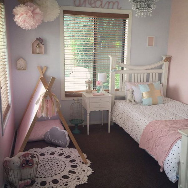 Shabby chic baby girl nursery decor Baby girl decorating room