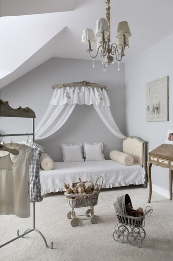 Shabby chic grey kids room designs for Grey shabby chic living room ideas