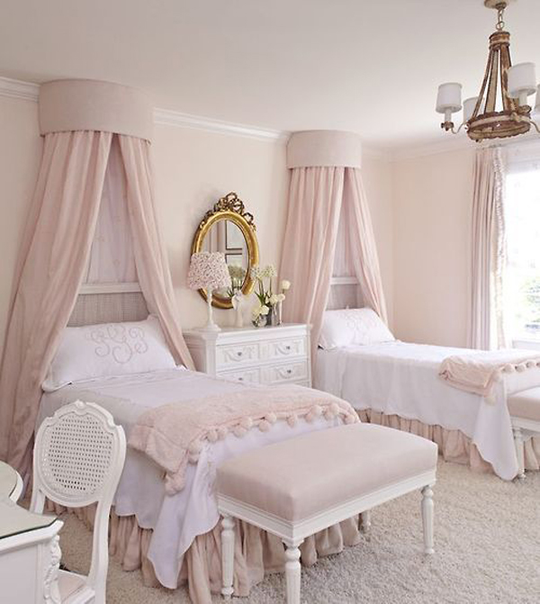 Shabby Chic Pink Kids Bed Homemydesign