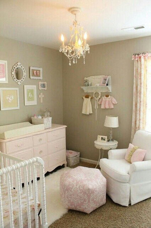 shabby chic soft nursery decor ideas