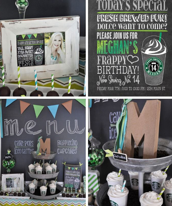Starbuck Frappuccino Birthday Party For Teen Girl