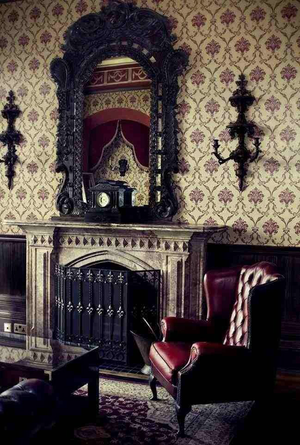 Victorian gothic fireplace designs for Victorian house decor