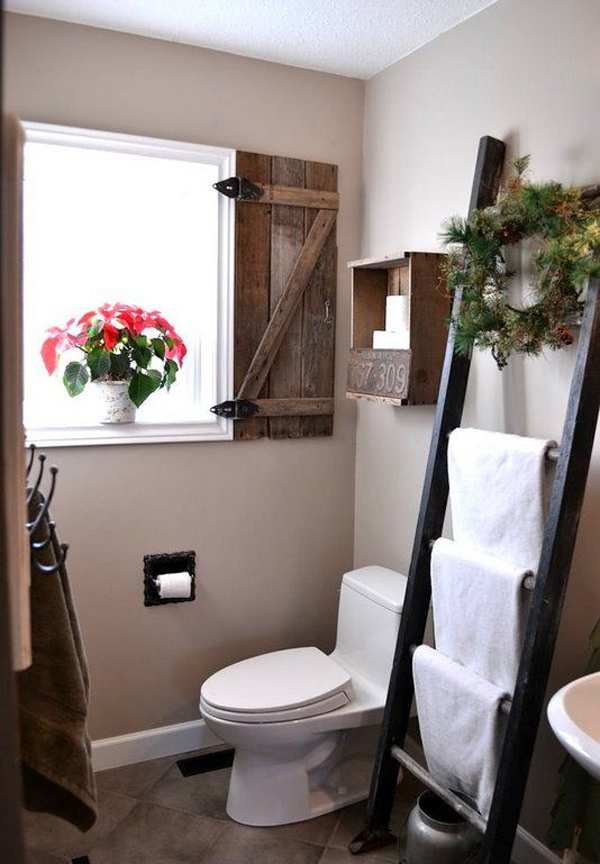Vintage Small Bathroom With Cozy Retreat