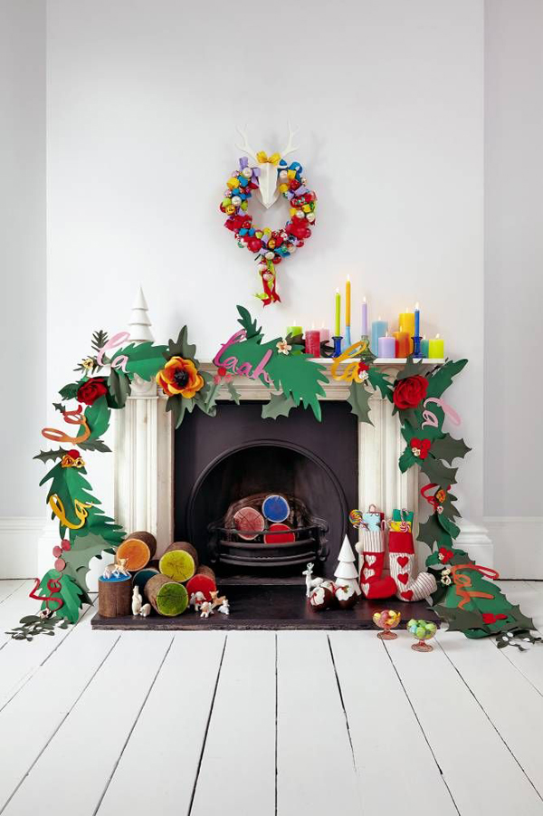 All paper fireplace decoration - Home decoration with paper ...