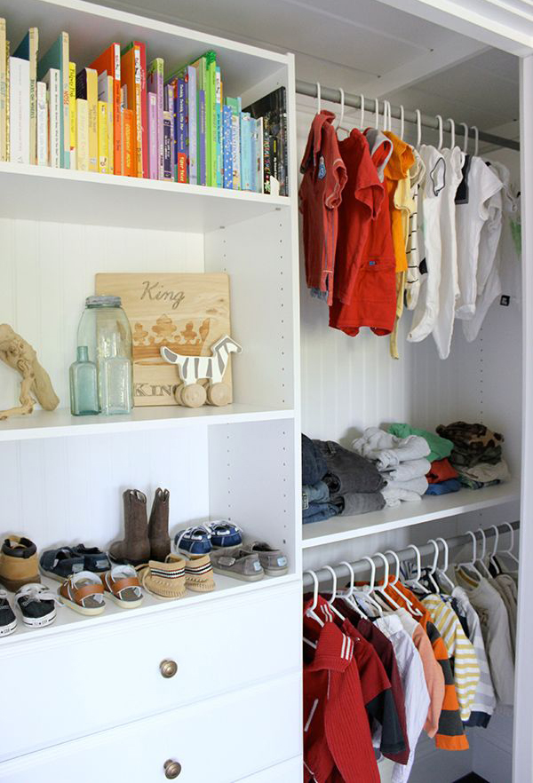 Boys Closet Storage Solution