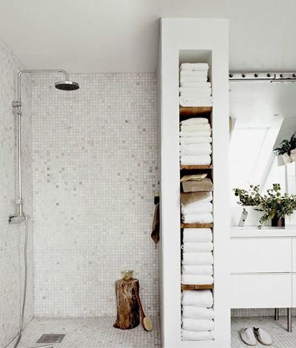 built-in-bathroom-wall-storage - HomeMydesign