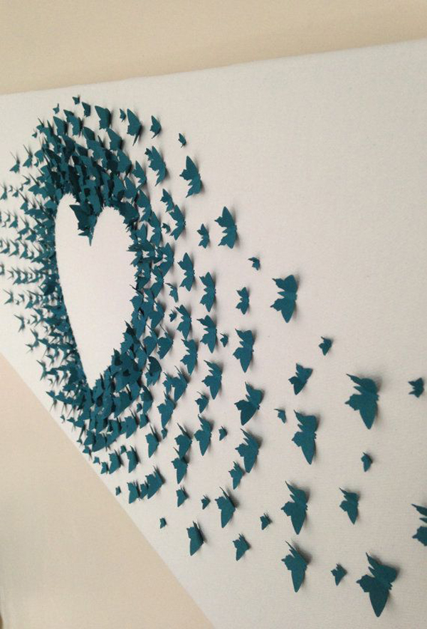 butterfly paper art wall decoration