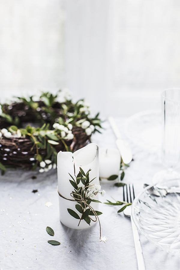 Chic nature christmas table decorations - Deco table noel chic ...