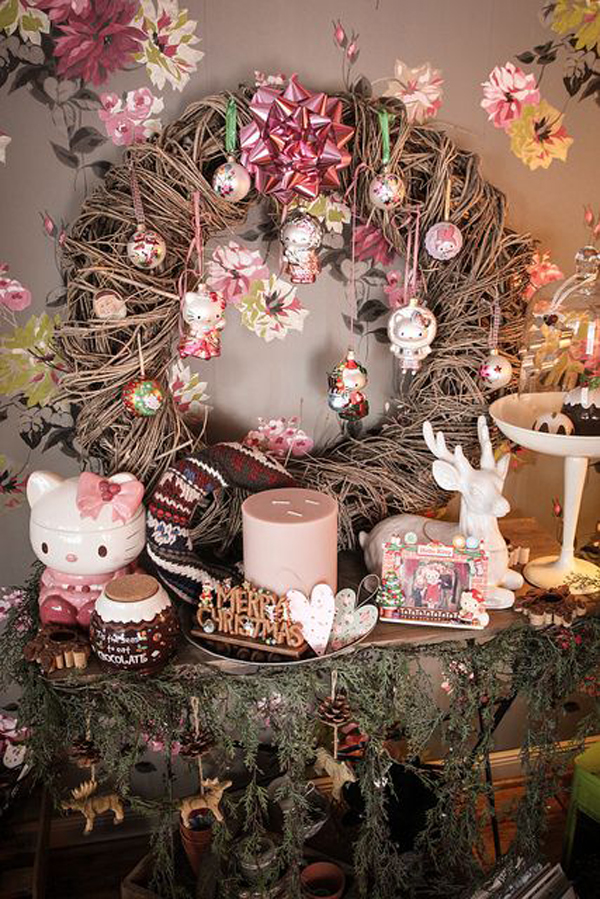 Cute Hello Kitty Christmas Decoration Home Design And Interior