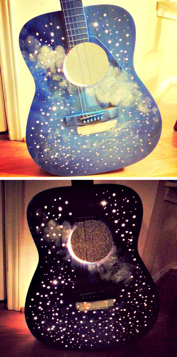 15 clever ways to repurpose old guitars home design and