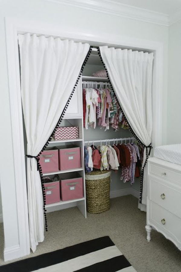 Diy kids closet organization ideas for Closet door ideas diy