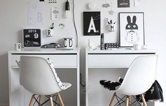 double-black-and-white-kids-workspace