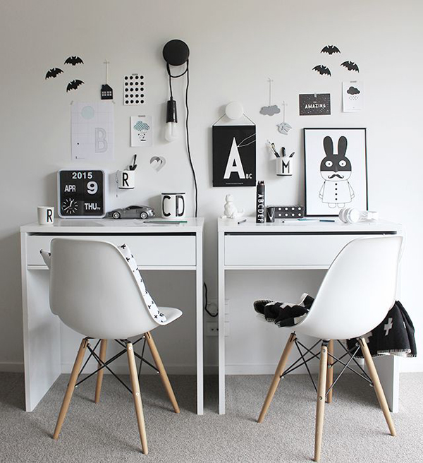 10 Modern And Minimalist Workspace For Kids