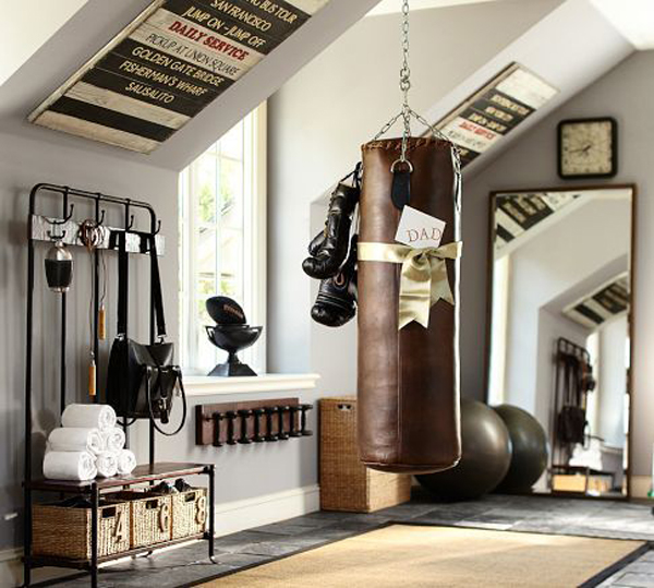 Garage-man-cave-with-home-gym
