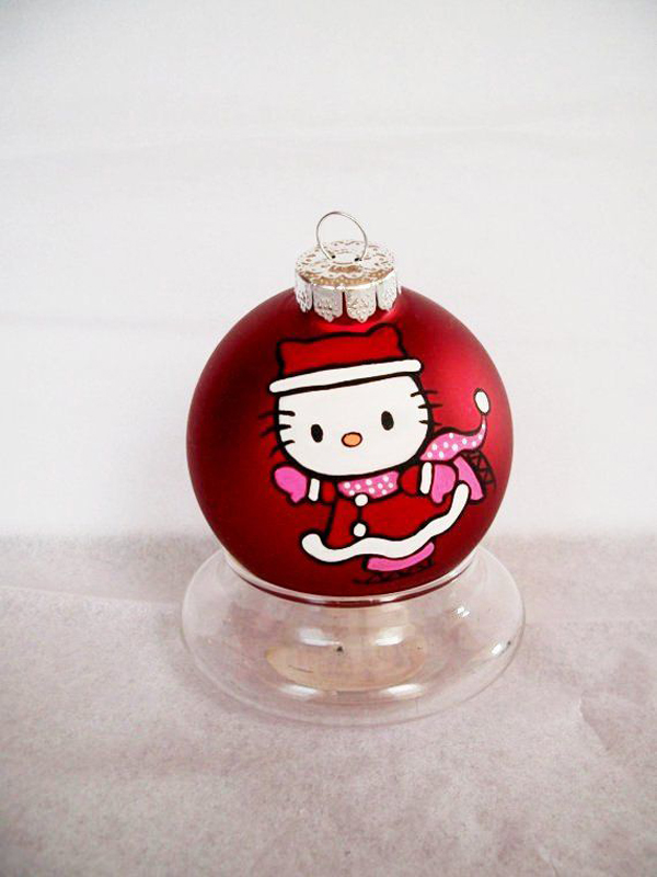 Hand Painted Hello Kitty Christmas Ornament Home Design And Interior