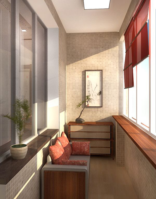 Cozy and covered balcony at apartment home design and for Apartment design with terrace