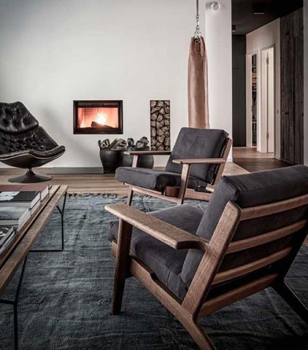 70 Bachelor Pad Living Room Ideas: Masculine-bachelor-pad-living-room-decor-ideas