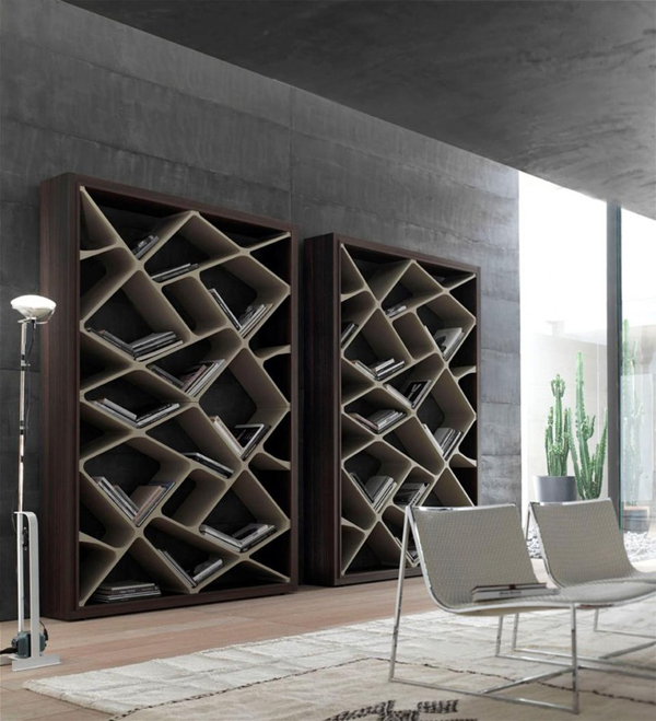Modern and stylish bookcase for every room home design and interior