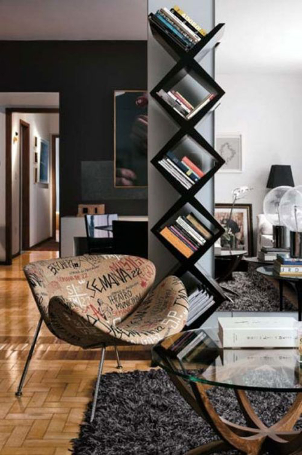 Modern Bookcase With Chair Furniture