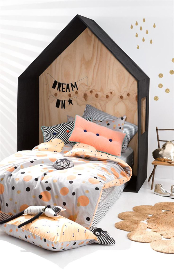 modern teepee kids bedroom. Black Bedroom Furniture Sets. Home Design Ideas
