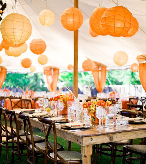 Paper Lanterns Wedding Decoration Ideas: 20 Beautiful Wedding Lanterns With Hanging On Lights