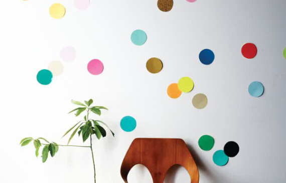 polkadot-paper-wall-decor-ideas