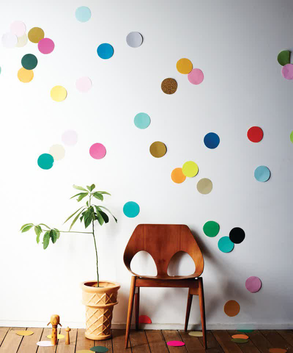 Polkadot Paper Wall Decor Ideas