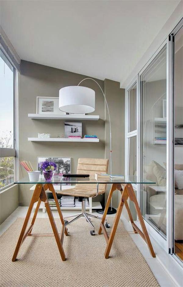 Pretty Balcony Home Office Design