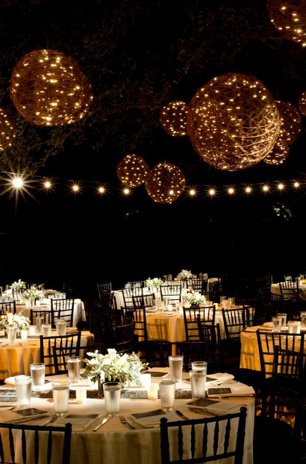 outdoor wedding reception decor 20 beautiful wedding lanterns with hanging on lights 6330