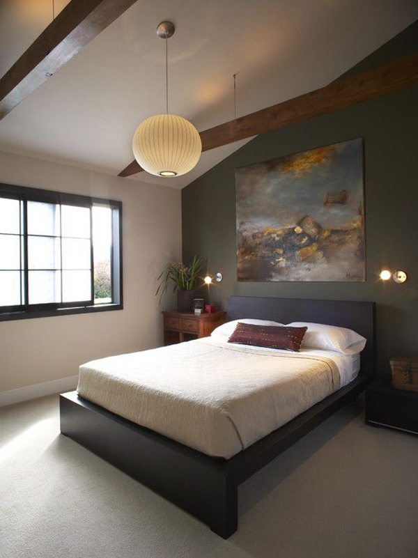 20 asian bedroom style with zen elements home design and for Bedroom ceiling lights