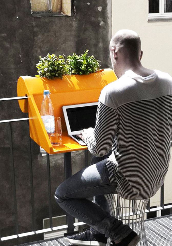 Small And Cozy Workspace At Balcony Homemydesign