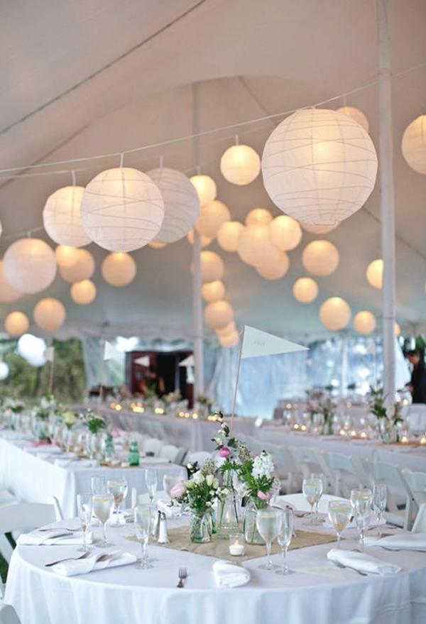 White Paper Lanterns For Wedding Decor Home Design And Interior