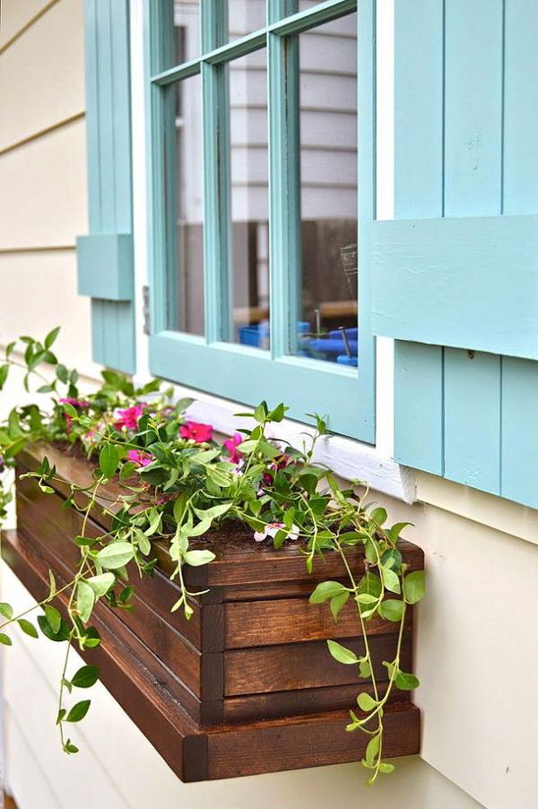 DIY window box planters - Get Small House With Plant Box Design  Pics