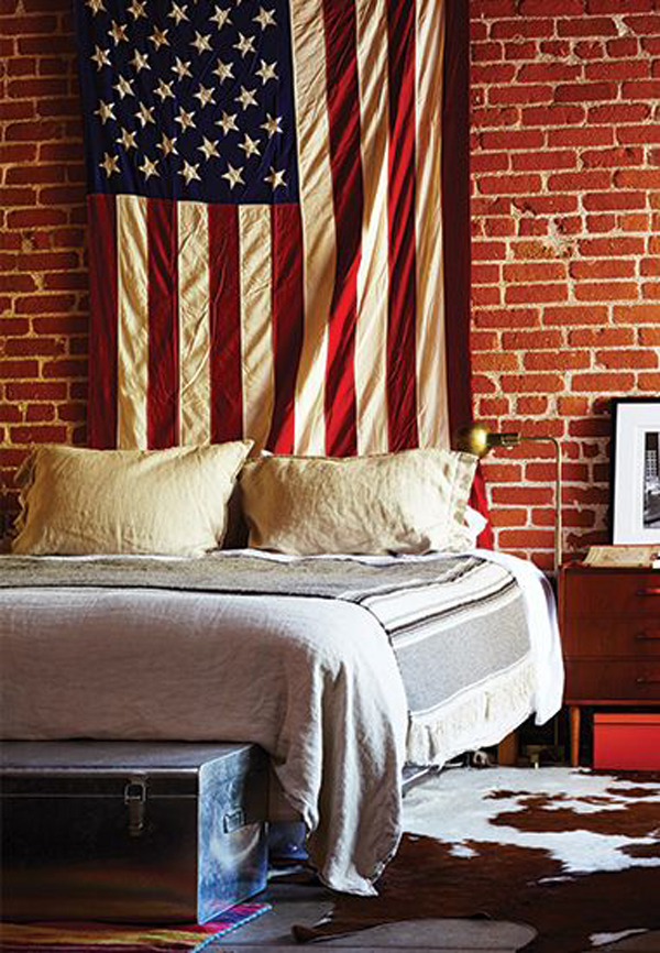 American flag dorm room ideas for Display bedroom ideas