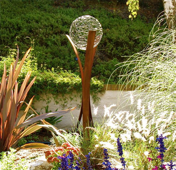 gazing ball for water garden