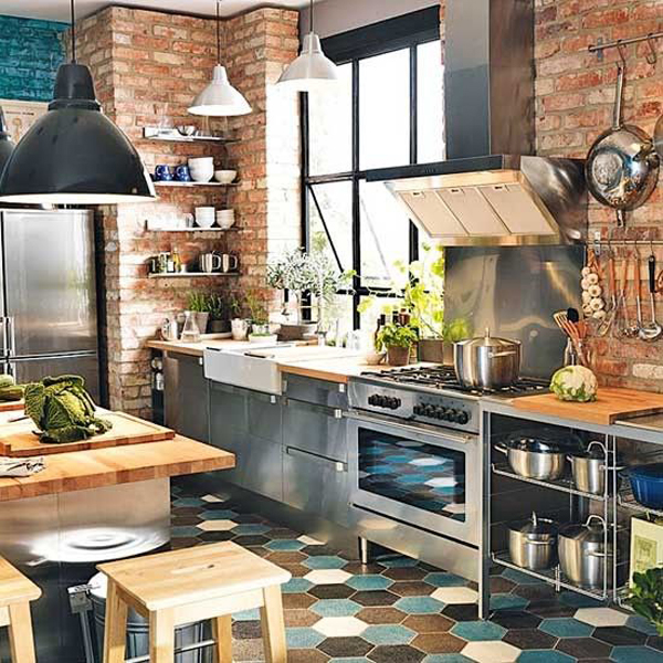 Bright-industrial-kitchen-decor