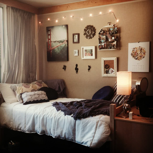 10 super stylish dorm room ideas home design and interior for Bedroom color inspiration pinterest