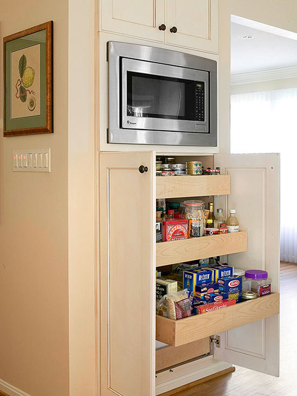 compact kitchen pantry design