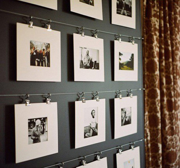 22 beautiful ways to display family photos on your walls for Cool home accents