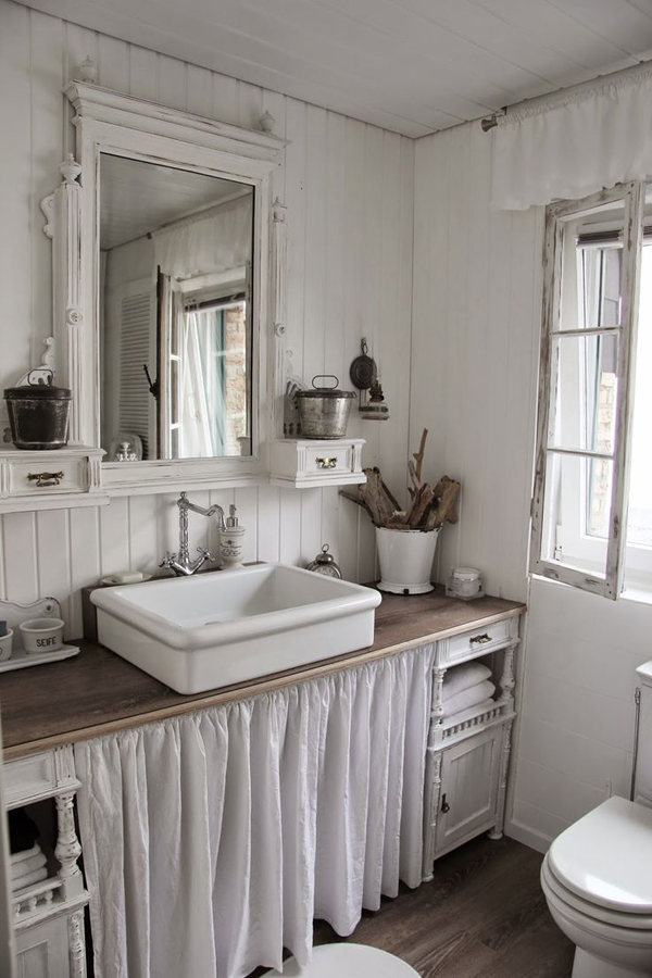 20 Cozy And Beautiful Farmhouse Bathroom Ideas | Home ... on Farmhouse Bathroom Remodel Ideas  id=74657