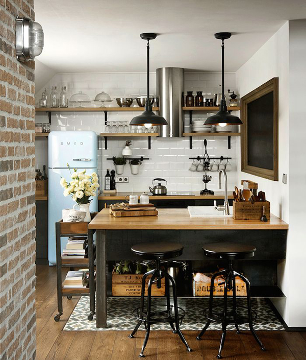 rustic industrial kitchen decor trend
