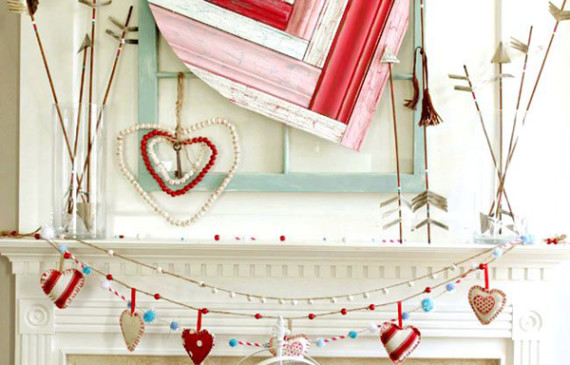 cute-valentine-day-mantel-decor