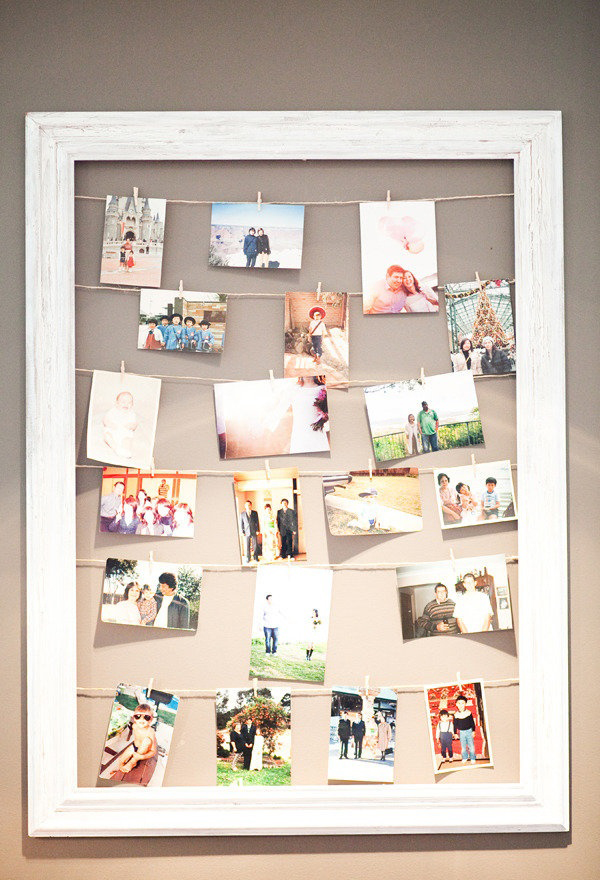 22 Beautiful Ways To Display Family Photos On Your Walls