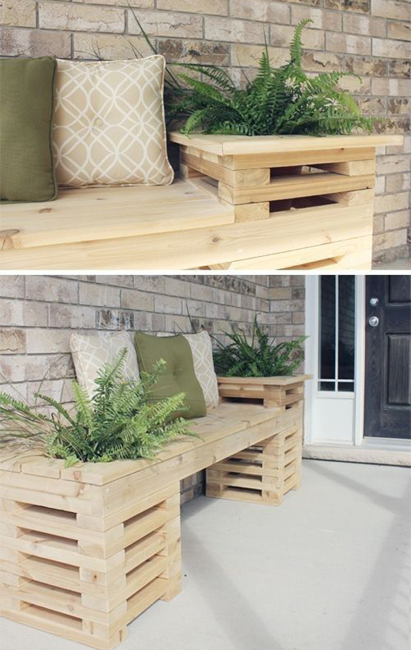 Diy Wood Crate Outdoor Bench Home Design And Interior